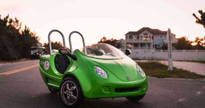 Side shot of Green Scoot Coupe