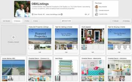 View of OBXListings account on Pinterest