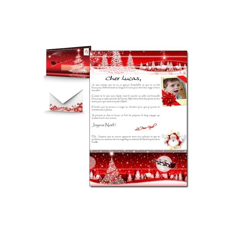 Lettre Du Pre Noel Personnalise Photo
