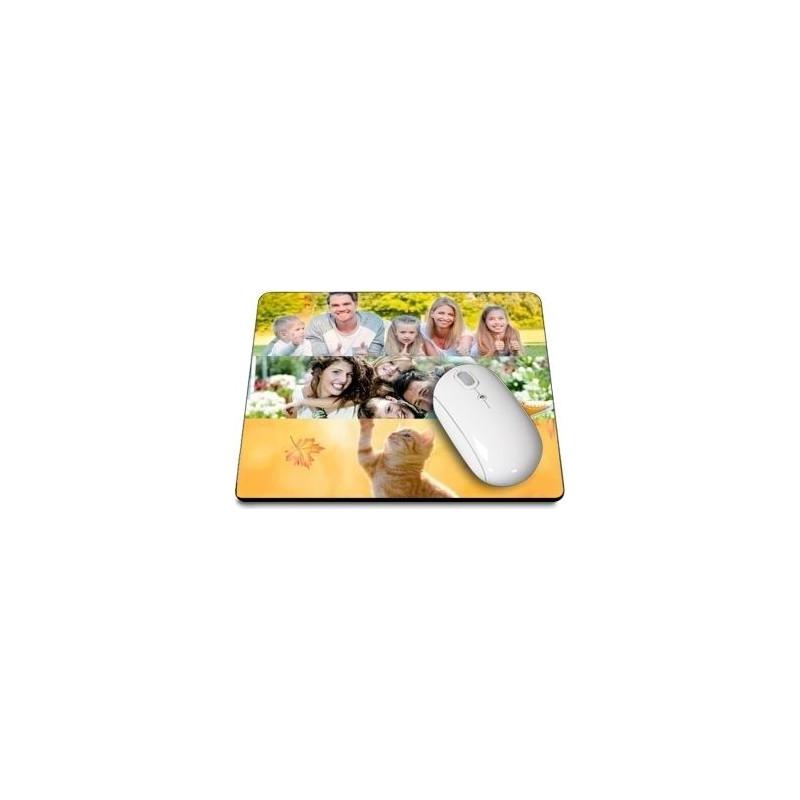 grand tapis de souris rectangle avec pele mele photos