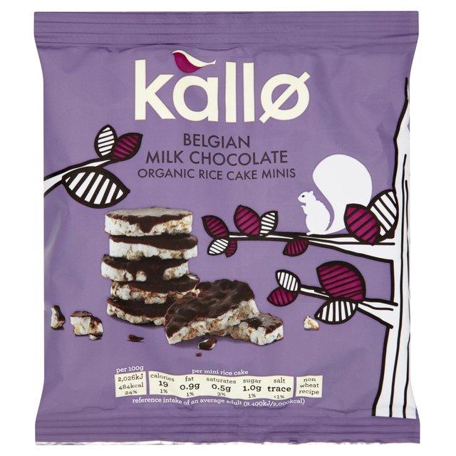 Kallo Organic Milk Chocolate Rice Cake Minis 40g from Ocado