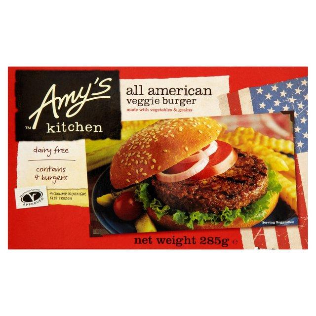 Amys Kitchen All American Veggie Burger Frozen 285g from Ocado