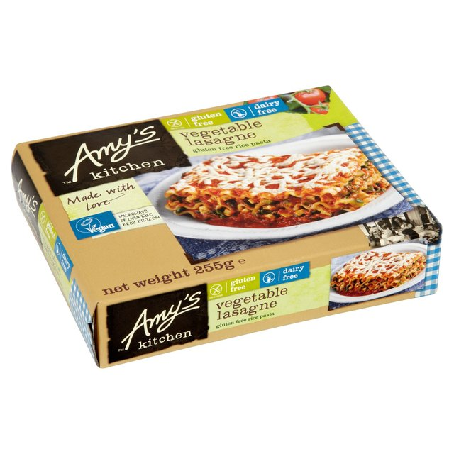 Amys Kitchen Vegan Vegetable Lasagne Frozen 255g from Ocado