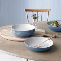 Denby Elements Blue 4 Piece Pasta Bowl Set from Ocado