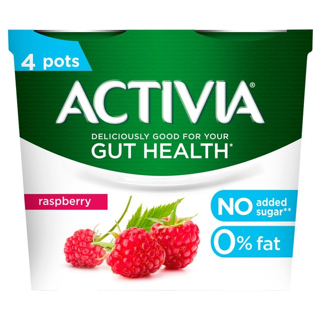 Activia 0% Fat Raspberry Yogurts 4 x 125g from Ocado