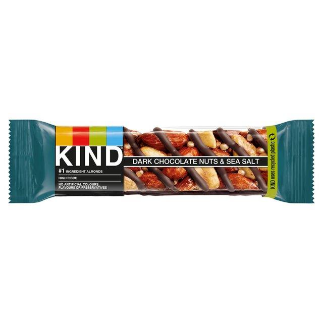 Kind Bars Dark Choc Nuts amp Sea Salt Bar 40g from Ocado