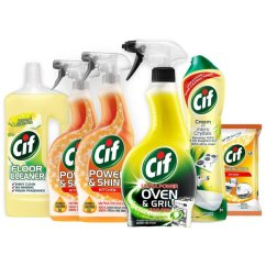 Kitchen Cleaning Products Counter Outlets Cif Essential Kit From Ocado