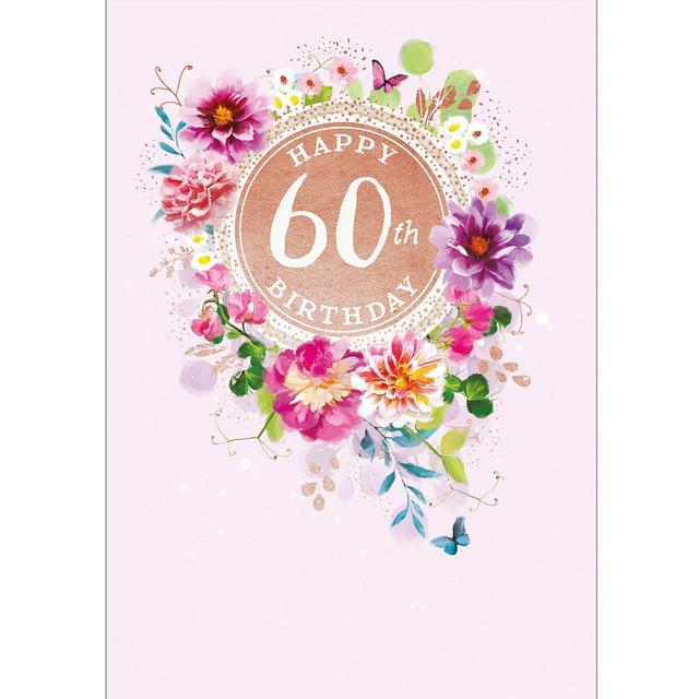 60th birthday card ocado