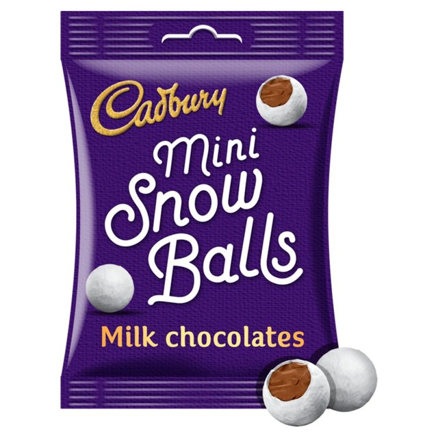 Cadbury Chocolate Mini Snowballs Bag   Ocado
