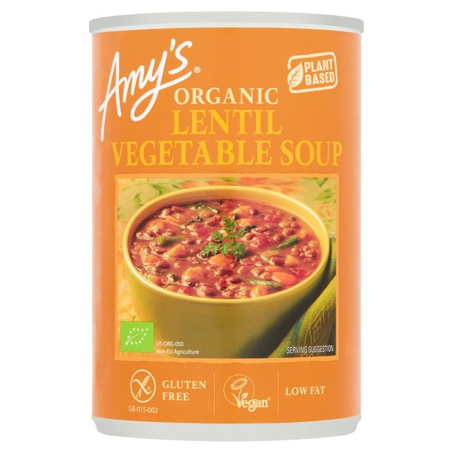 amy's kitchen soup sink frame amy s lentil vegetable 400g from ocado