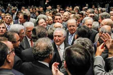 Brasília - DF, 31/08/2016. Michel Temer durante posse como Presidente da República no Senado Federal. Foto: Beto Barata/PR