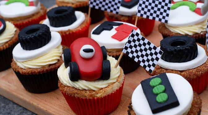 Formule 1 cupcakes
