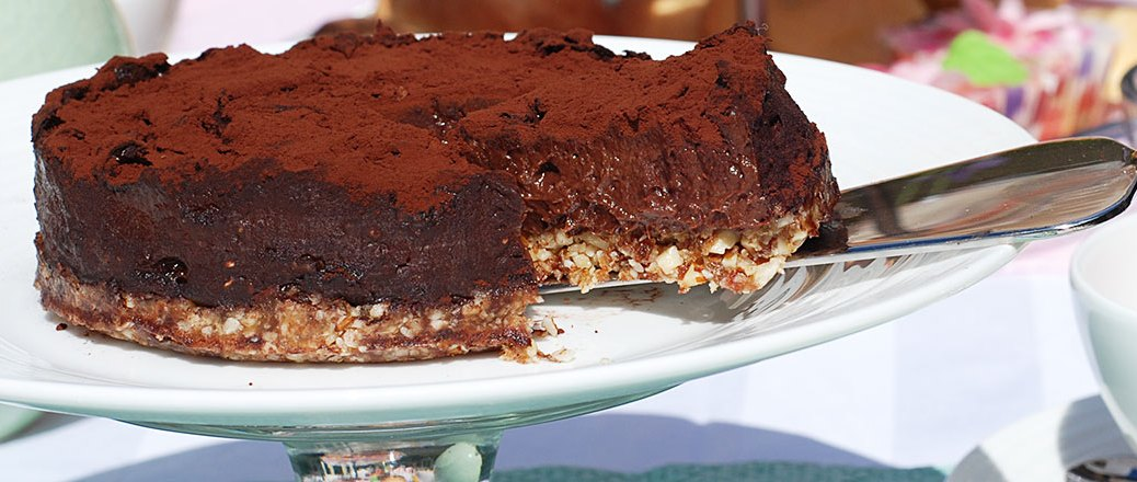 chocolade raw food taart O'Cakes