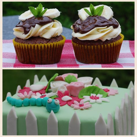 cupcakes en fondant taart