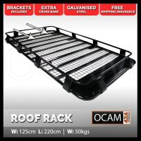 OCAM Steel Full Length Roof Rack For Landcruiser, Pajero
