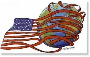 american flag around teh world
