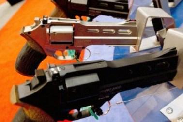 Rhino 500 handguns are on display at the