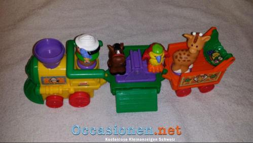 Fisher Price Little People Safari Zug mit Figuren-1