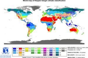Köppen-Geiger Climate Zones