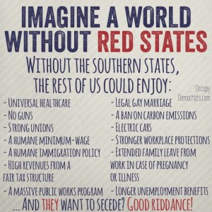 Imagine America ... without the Southern states