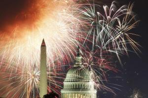 In Washington, DC, the U.S. celebrates the dependency of the states on the central government