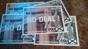 Tom Watson Protest Signs
