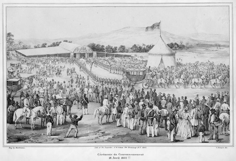 In 1852, Emperor Faustin I Soulouque's coronation in the Second Empire of Hayti