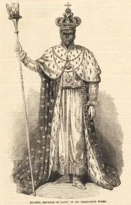 Emperor Faustin I Soulouque of Haiti (1849-1859) in his coronation robe