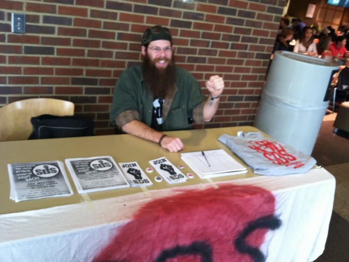 Preston Gilmore, communist neckbeard, is the lead organizer of the 2013 and 2014 Amren counterprotests