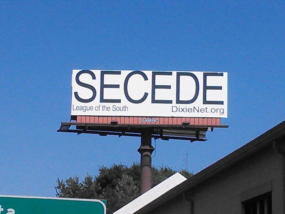 Secede billboard gets on Drudge Report