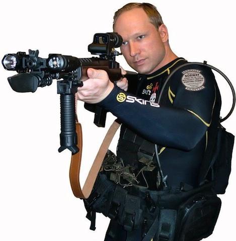 Anders Behring Breivik strikes a pose