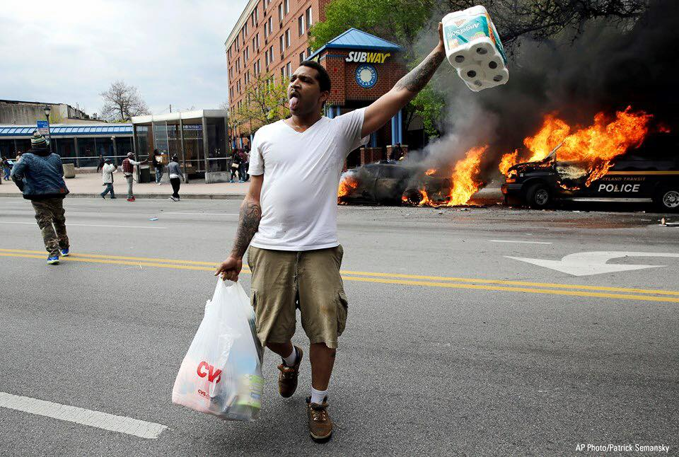#BlackLivesMatter supporters burned down Baltimore over an accident