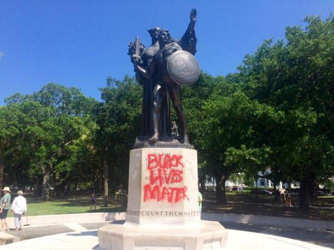 Confederate monuments are being vandalized all over the South