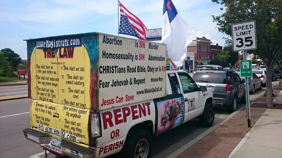 This truck was also spotted in Columbia