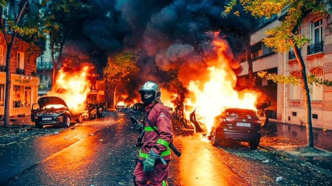 Image result for french riots 2018