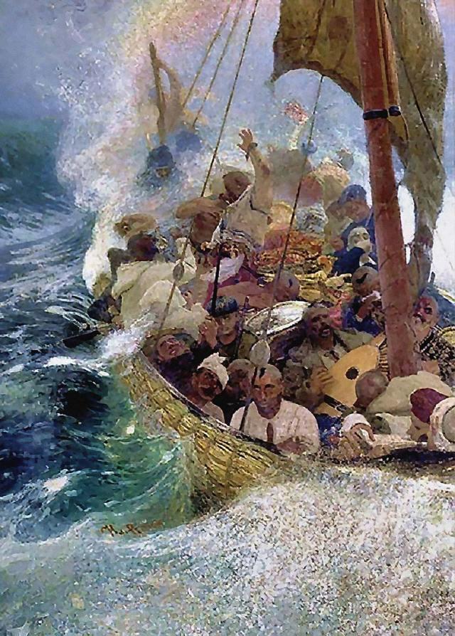 Казаки Ильи Репина на Черном море, одна из работ, купленных Порошенко через офшорную подставную компанию.