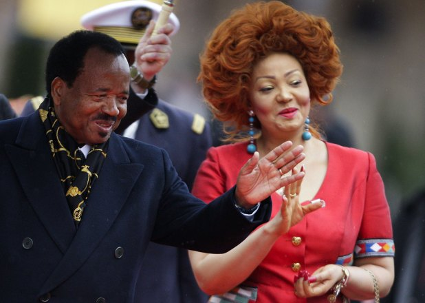 Cameroon's President Paul Biya and First Lady Chantal Biya arrive at the opening ceremony of the Francophone Summit in Montreux October 23, 2010. (Image: REUTERS/Valentin Flauraud.)