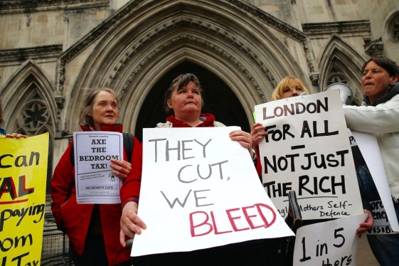 Image result for benefits system protests poverty uk