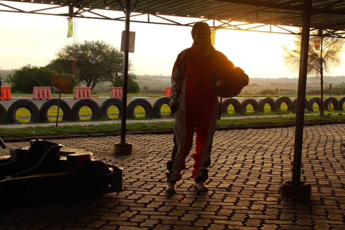 Sunset Go Karting in Nairobi, Kenya at Whistling Morans