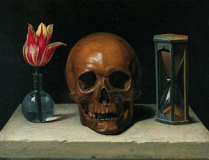 Still Life with a Skull by Philippe de Champaigne (1602-1674)