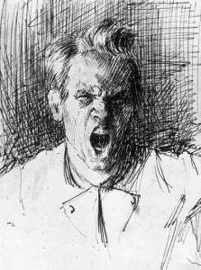 Erik Theodor Werenskiold's self-portrait from 1877.