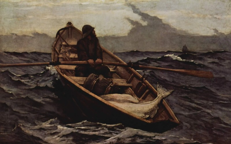 Winslow Homer's The Fog Warning (1885).