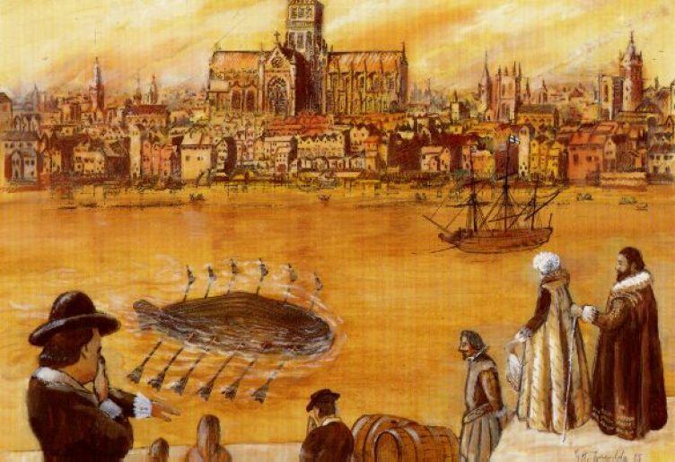 Il sommergibile di Drebbel – di sconosciuto mine navali