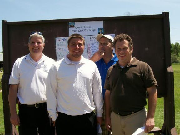 Sen. Goeff Hansen (R-Hart) with teammates (pictured to left to right) Luke Johnsen, Todd Fox and Eric Fox won Friday's Goeff Hansen Golf Challenge at Oceana Golf Club. Missing from photo is Todd McCallum.