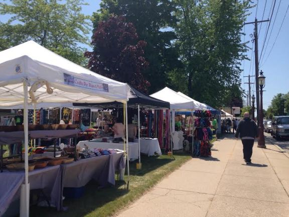 Downtown Hart is busy with activity this afternoon as the 41st Annual National Asparagus Festival begins.