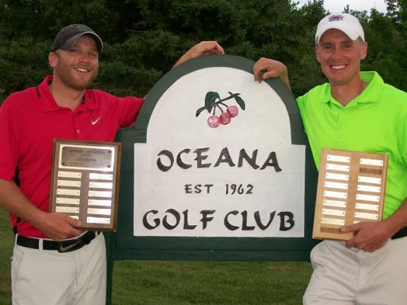 Joe Foster Open Champions Corey Parmalee, at left, and Shawn Pranger.