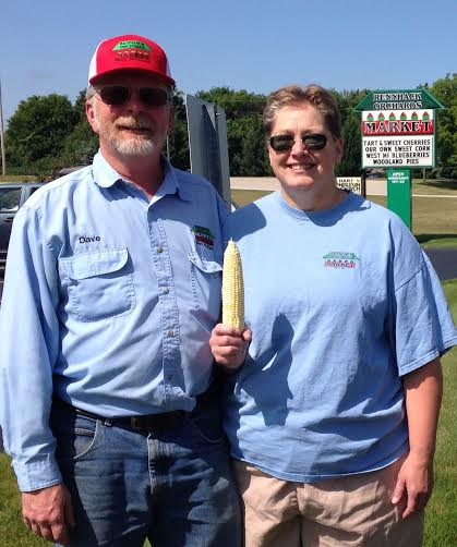 Dave and Joann Rennhack, owners of Rennhack Orchards Market in Hart.