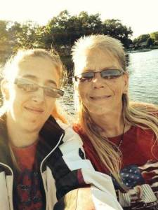 Sherry Nordhoff and Shelly Nicholas, both of Twin Lake, are two of the dozen of deaf boaters aboard the stranded vessel. Both of their cell phones were used in the rescue, along with a third phone.