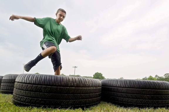 """America's Fitness Center will offer an """"obstacle chase"""" both days of the All Seasons Outdoor Show this weekend at the Oceana County Fairgrounds in Hart beginning at 11 a.m. All skill levels are welcome."""