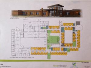 An architect's drawing of the  expansion plan.